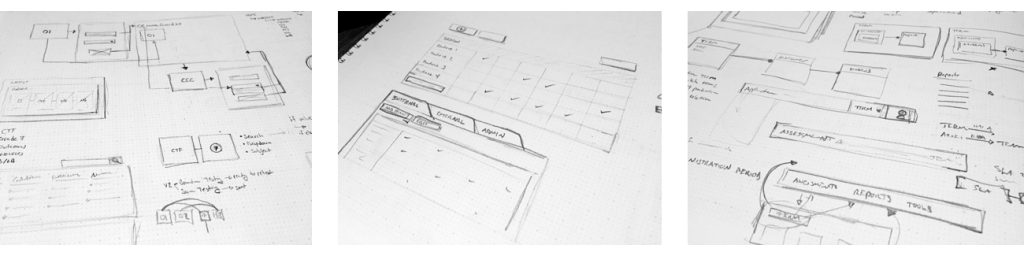 Sketches showing design layout